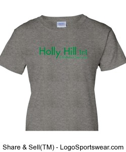 Ladies Grey Holly Hill Tee Design Zoom